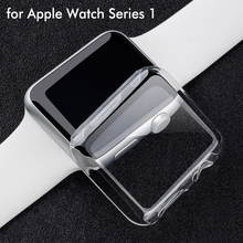 UltraThin Crystal Transparent PC Hard Full cover Case for Apple iWatch Series 1 cases Screen Protector 38mm 42mm Coque caso