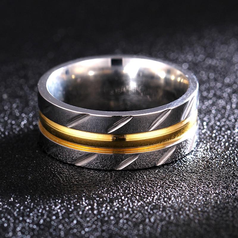 8MM 316l prsten od nehrđajućeg čelika Titanium Rock Rock Punk - Modni nakit
