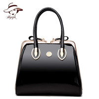 Luxury High Quality Black Patent Leather Women Bag Ladies Famous Brand Messenger Handbag Party Purse Tote Designer Crossbody Bag