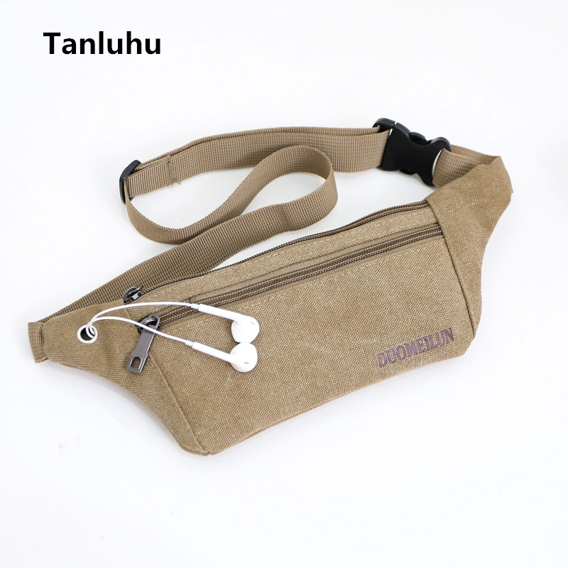 Tanluhu unisex casual small travel belt bags men and women canvas waist bag & pack women cute multi functional durable belt bags