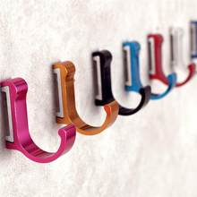 LUOEM Frap Colorful Wall Hook Clothes Hanger for Bathroom Kitchen Towel Clothes Coat Aluminum Robe Hooks Bathroom Accessory(China)