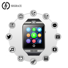 2019 Sograce Q18 Smart Watches Support SIM Card for Android Smart Phone With Touchscreen Bluetooth Camera Smartwatch