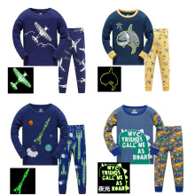 New Arrival Baby Boys Pyjamas Autumn Spring Cartoon Rocket Print Home wear Long Sleeve Children 2 Pcs Clothing Set Boy Sleepwear