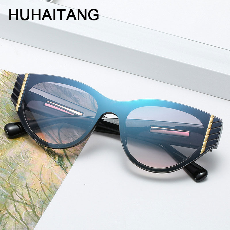 HUHAITANG <font><b>Brand</b></font> <font><b>Sexy</b></font> <font><b>Cat</b></font> <font><b>Eye</b></font> <font><b>Sunglass</b></font> <font><b>Womens</b></font> Luxury <font><b>Designer</b></font> Cateye <font><b>Women</b></font> <font><b>Sunglasses</b></font> 2019 High Quality Metal Ladies Sun Glasses image