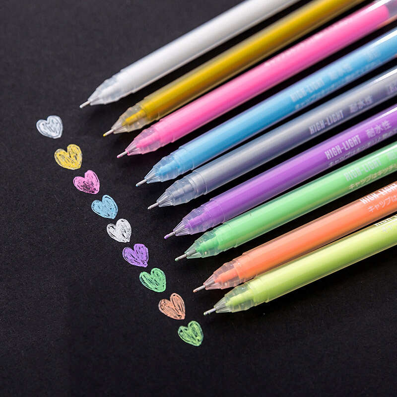 Cute Kawaii 9 Candy Color Marker Pen Chalk Paint Pen Water Color For Diary Decoration Scrapbooking School Supplies Student Item