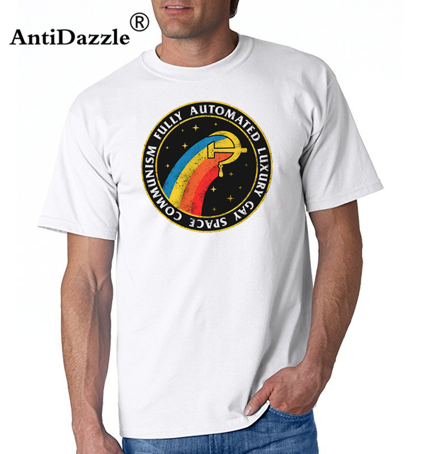 adced74d Camisa masculina Fully Automated Luxury Gay Space Communism T Shirt men  Geek tshirt Novelty T-shirt vintage Streetwear tee shirt