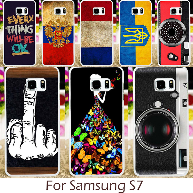 Akabeila Plastic Silicon Case for Samsung Galaxy S7 G930F G930FD G930W8 G930 G9300 SM-G930A SM-G930R4 Cover DIY Painted Shell
