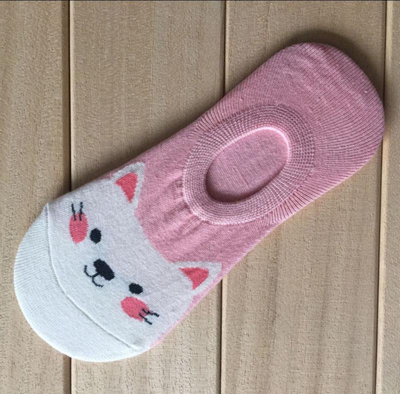 5 Pairs Women Animal Cartoon Pattern Socks