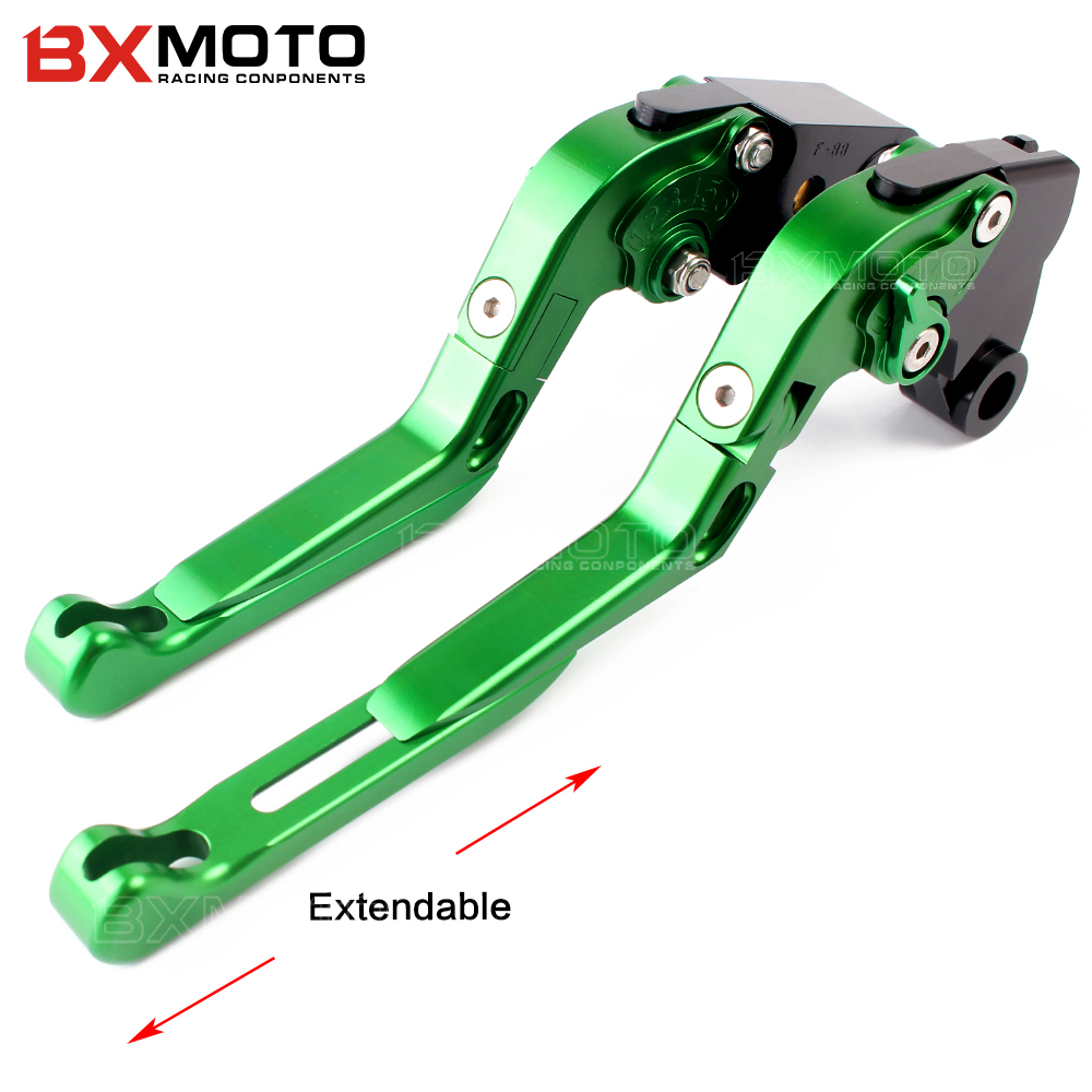 Z900 New green motorcycle accessories parts For kawasaki z900 z 900 2017 brake clutch levers motorbike clutch brake levers