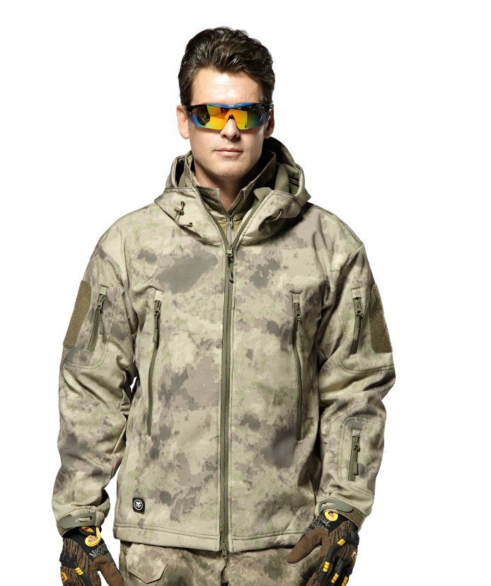 US Military Fleece Tactical Jacket Men Thermal Outdoors Polartec Sport Hooded Coat Militar Softshell Hike Outdoor Army Jackets