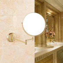 Gurun 6 Inch 3/5/7X Led Suction Cup Mirror Makeup 2 Side Cosmetic Mirror Lights Compact Of Glass Hand bathroom wall MirrorM1306J