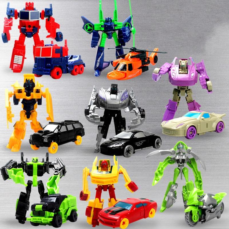 Transformation Deformation Robot Yellow Car Compatible Model Building Kid