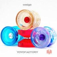 2018 New arrive YYF PC version WEDGE YOYO Rubber yoyo Professional 1A POM yo yo