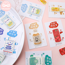 Mr Paper 30pcs/lot 24 Designs Japanese Style Drink Juice Memo Pads Sticky Note Notepad Diary Creative Self-Stick Notes
