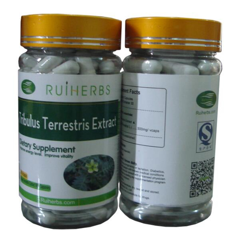 3BottlesTribulus Terrestris Extract 90% Saponins Caps 500mg x 270pcs free shipping valerian root extract 500mg 50 capsules free shipping