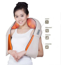 New Shiatsu Cervical Back and Neck Massager Shawl Electric Roller Heat Device China Home Car Body Massage Machine