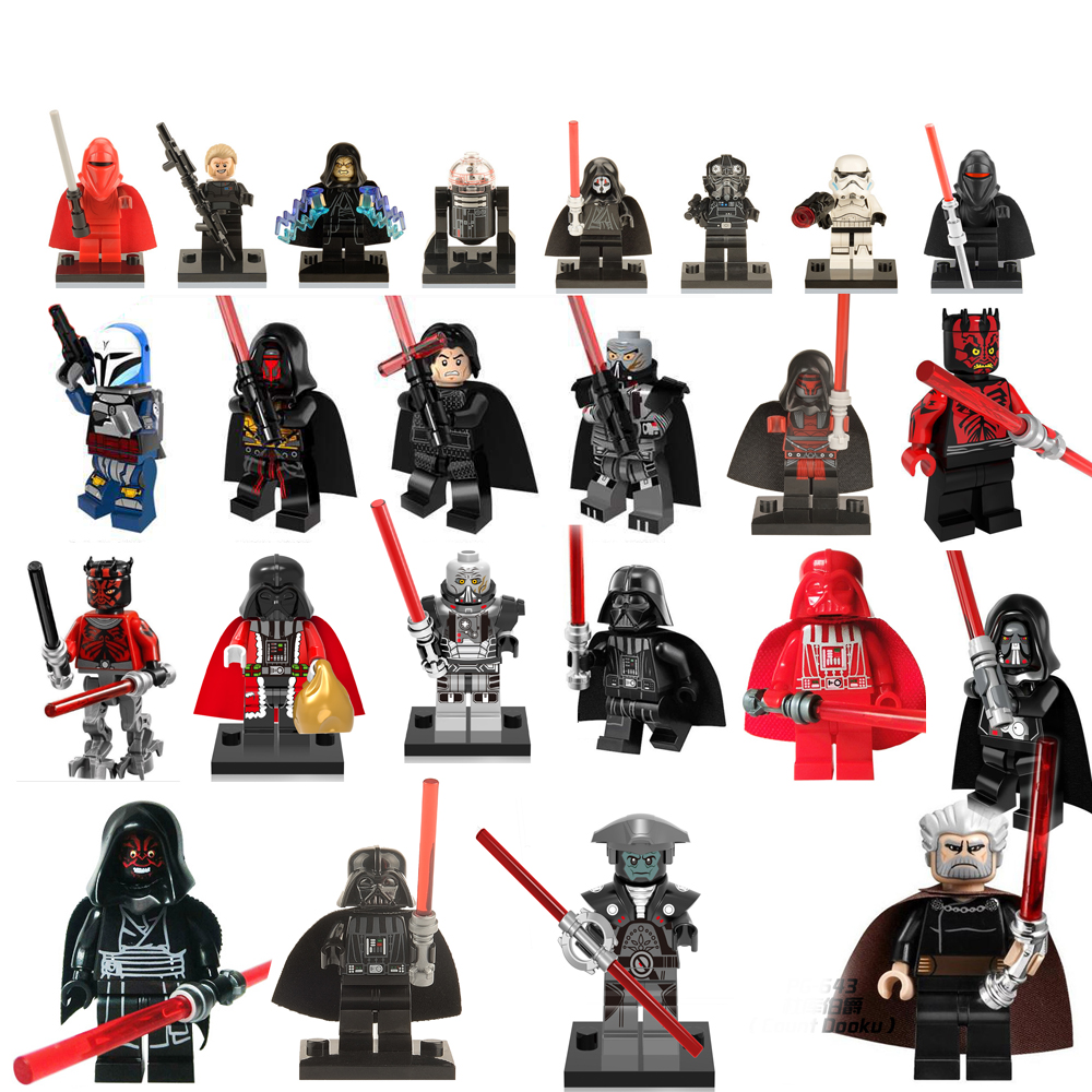 OLeKu Building Blocks  Star Wars Sith Lord Darth Vader Maul Revan Dooku Sidious bricks toys for children starwars figures legoelied star wars super heros marvel dc minifigures darth revan yoda deadpool batman v superman figures building blocks toys