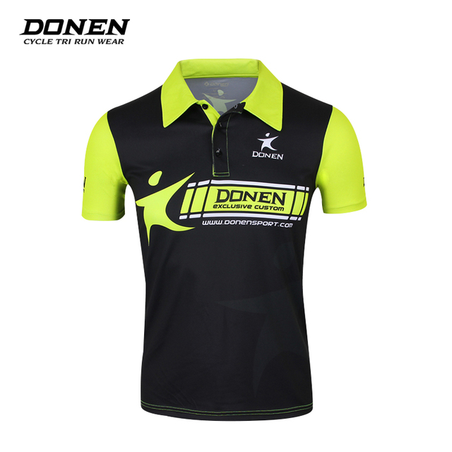 DONEN Cycling Jersey Anti-sweat Breathable Outdoor Sports Downhill MTB  Bicycle Bike Jersey Golf Polo Shirt Style Cycle Clothes 18c1281a5