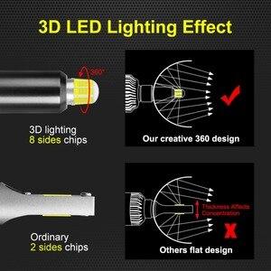 Image 5 - Ampoules de voiture pour phares de voiture, 2 pièces H1 H7 H8 H9 H11 9005 HB3 9006 HB4 LED Canbus 6000K 50W 18000LM, 8 côtés 48CSP 360 °