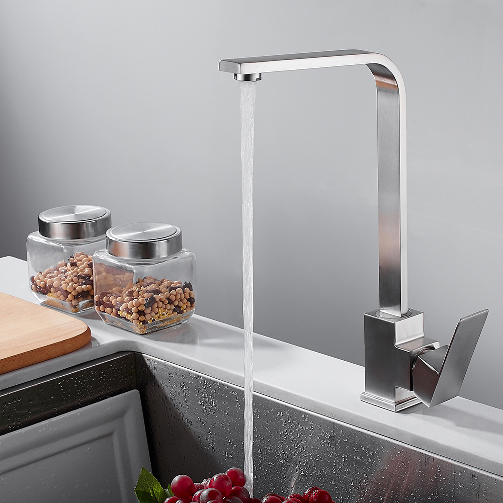 Kitchen Faucet Hot Cold Water Faucet Classic Single Holder Single Hole Stainless Steel Kitchen Faucets Basin Kitchen Faucet