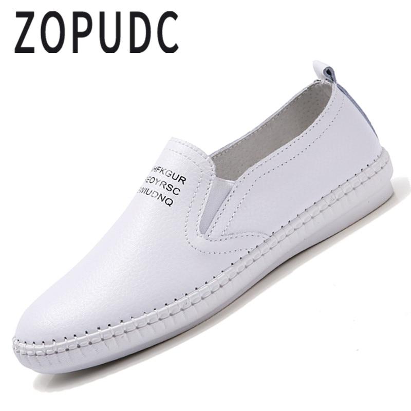 En Appartements Occasionnels Cuir Chaussures La Femmes 2018 Main Lecteur À Black Marche Classique Zopudc D'été white Mocassins Femelle UnxwXqC