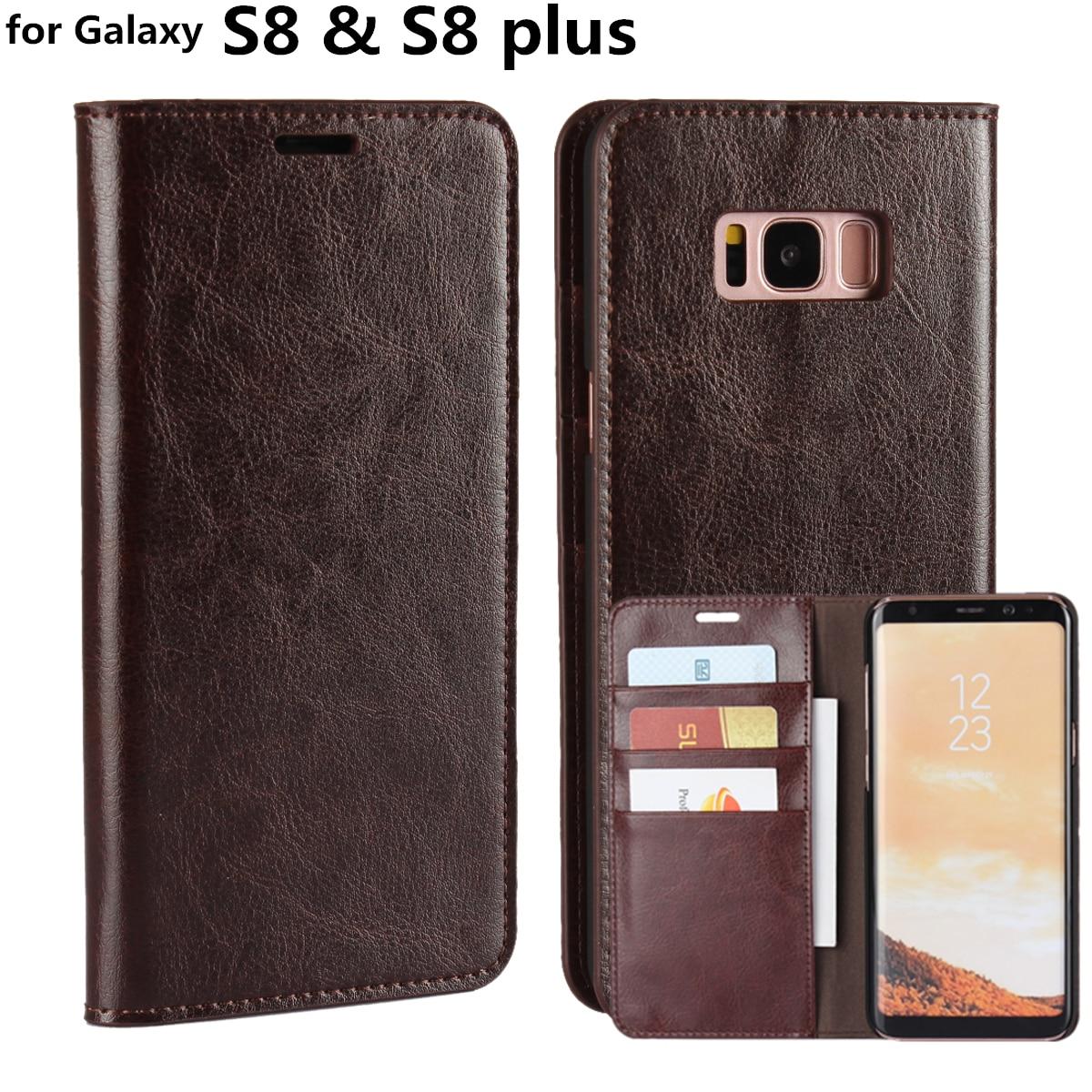 """bilder für Deluxe Mappenkasten Für Samsung Galaxy S8 Plus premium ledertasche Flip-Cover für Galaxy S8 5,8 """"& 6,2"""""""