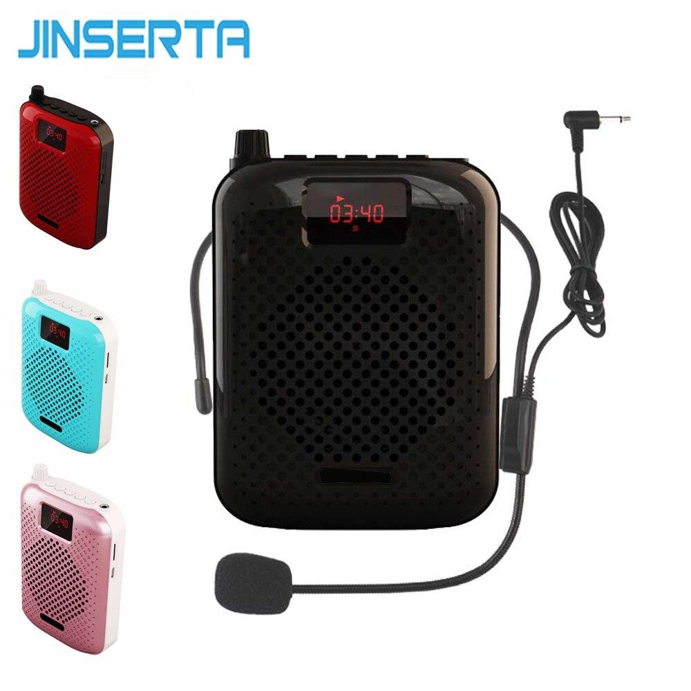 JINSERTA Bluetooth Speaker Microfone Amplificador de Voz Impulsionador Megafone Speaker Suporte FM radio Tf MP3 Player w/Bateria