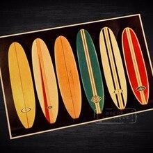 Занятий серфингом на доске, Презентация Винтаж для путешествий пляжные плакат ретро холст картины DIY настенные Стикеры для художественного оформления дома с изображением бар Плакаты Декор подарок