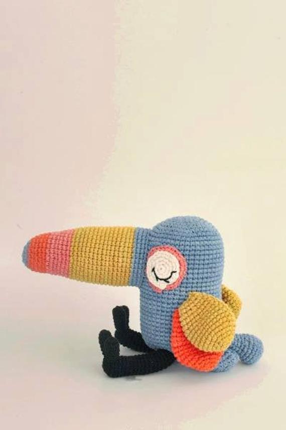 Crochet Armigurumi Rattle   Film Character Bird Model Number 842