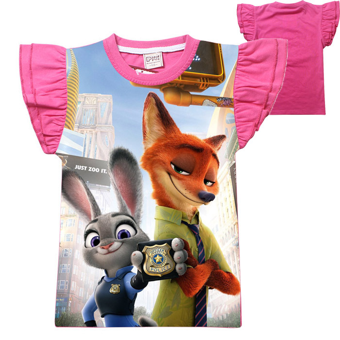 062e37d0b42d82 4 12Year Cotton Cartoon Zoo topia Printed Girls Tops Tees Boys T Shirts New  Summer Kids Short Sleeve T Shirt 5pcs lot Wholesale-in T-Shirts from Mother  ...