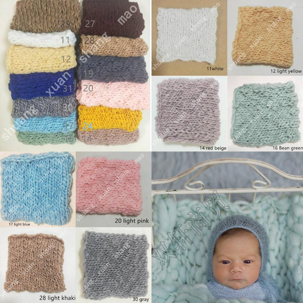50*50cm   Handcraft Acrylic Fiber Blanket Basket Stuffer Filler Newborn Baby Photography Background