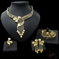 Pakistani Bridal Jewelry Sets Blink Blink Important Party Necklace Jewellery Set Guardian Angel Pendant