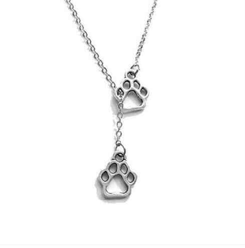 Кошка/собака коготь и собака породы борзая такса колбаса собака ожерелье 50 см Модный Свитер Цепочка ручная работа для женщин ювелирные изделия подарки для лучшего друга