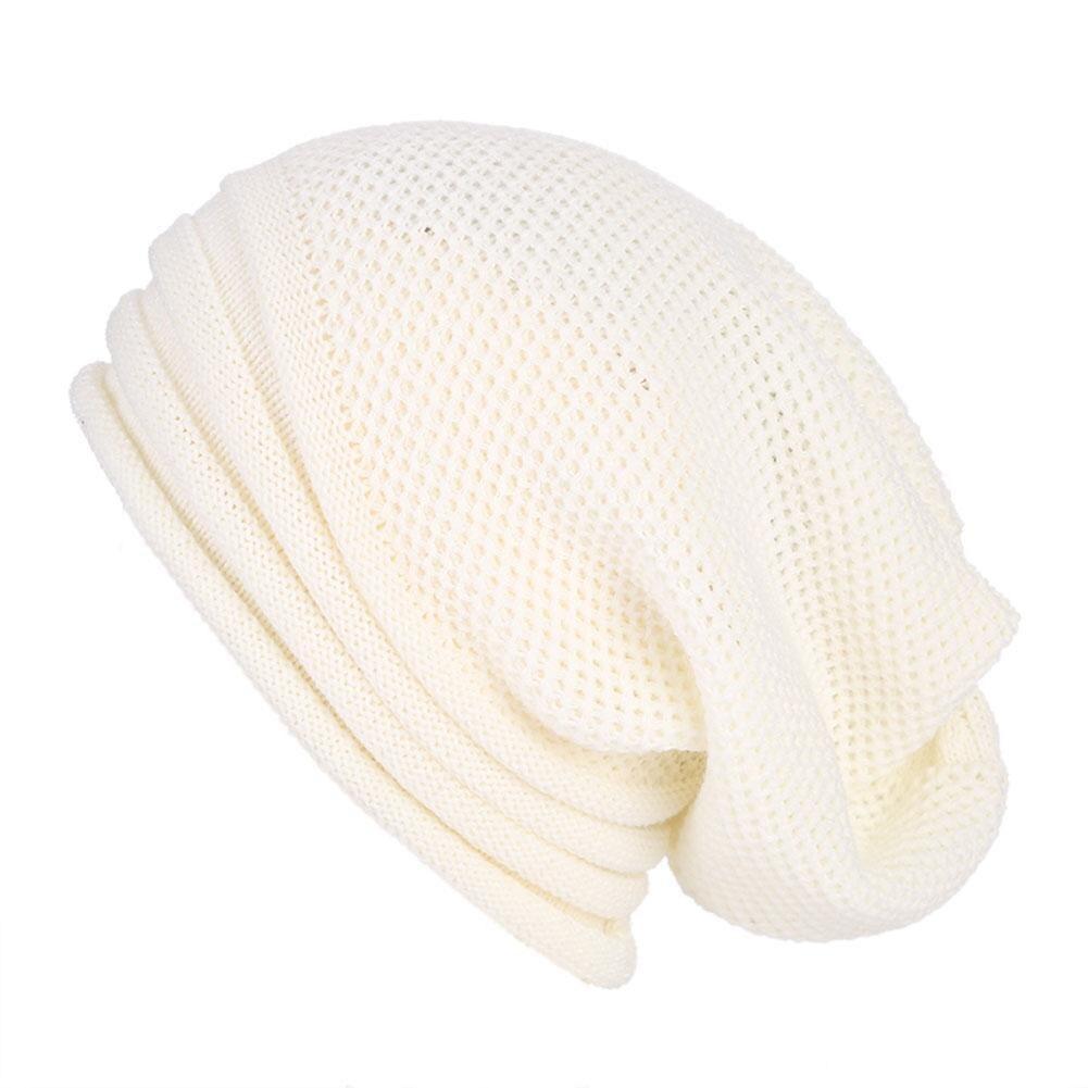 Beanies Solid Color Winter Hats Unisex Tapered Striped Warm Hats Street Dance Hip Hop Knitted Bonnet For Women Men Winter Autumn