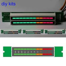 Мини двойной 12 уровень индикатор VU метр стерео усилитель доска регулируемый светильник плата скорости с режим АРУ Diy наборы 10166
