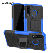 For Samsung Galaxy A20 Case Heavy Duty Hard Rubber Silicone Phone Cover for Fundas