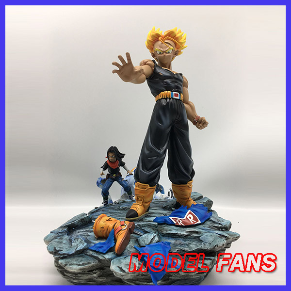 MODEL FANS Dragon Ball Z the same paragraph MRC 37cm future Trunks VS Android gk resin action figure toy for Collection