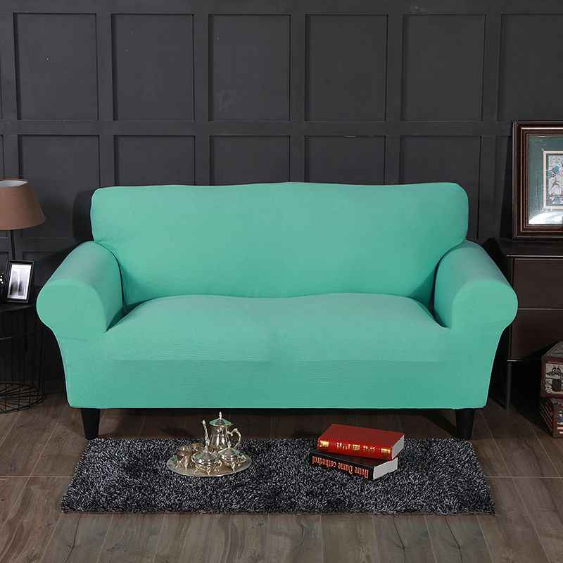 WLIARLEO Nova Malha tampa do Sofá Tampa Do Sofá Slipcover Trecho de Poliéster Quente e Macio Sólido Cinza, Vermelho Anti-Ácaro Elástico capas de sofá