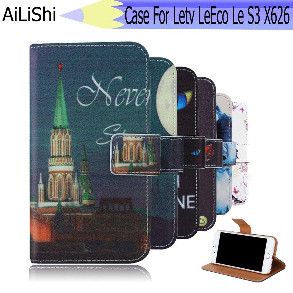 fe1bd3b386c Ailishi para letv leeco le S3 X626 caso exclusivo teléfono leeco le S3 caso  de cuero Flip titular de la tarjeta de crédito carpeta 6 colores