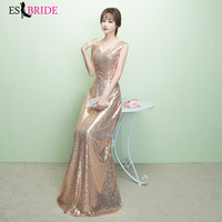 5320089294 Simple Shiny Gold Evening Dress Long Lace Backless Evening Dresses Evening  Gowns Elegant Formal Vintage Robe