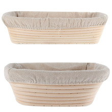 3 Sizes Oval Dough Banneton Brotform Dougn Rattan Bread Proofing Proving Baskets Tools