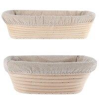 3 Sizes Oval Dough Banneton Brotform Dougn Rattan Bread Proofing Proving Baskets Tools