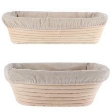 ФОТО 3 Sizes Oval Dough Banneton Brotform Dougn Rattan Bread Proofing Proving Baskets Tools
