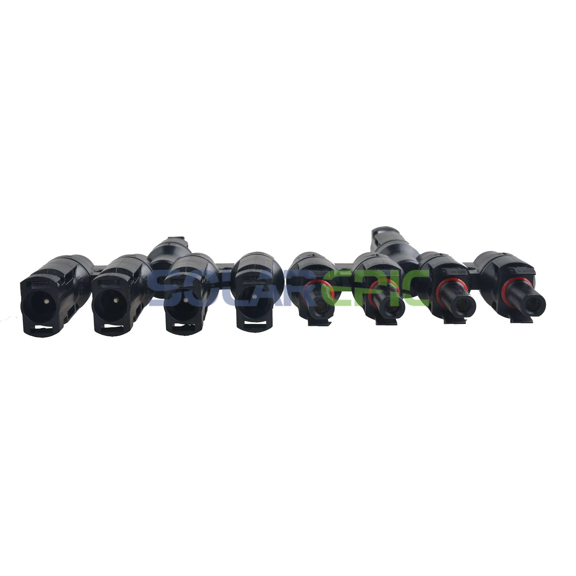 MC4 T Type 4 Branch Solar Panel Cable AC/DC Branch Connectors MFFFF FMMMM IP65 Connector Waterproof MC4 Solar Panel Connector