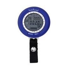 SUNROAD Thermometer Altimeter Fishing Watch Waterproof Mini LCD Digital Men Barometer IPX4 Fish Finder men Watch For Fishing Fan