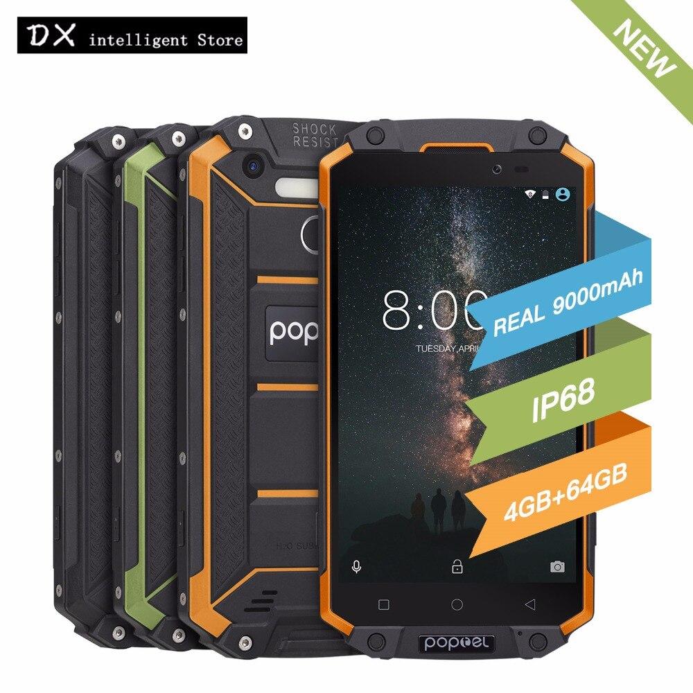POPTEL P9000 Max 4 gb 64 gb IP68 Étanche antichoc 4g LTE FDD SmartPhone 5.5 FHD MT6750V Octa core 13MP NFC OTG D'empreintes Digitales