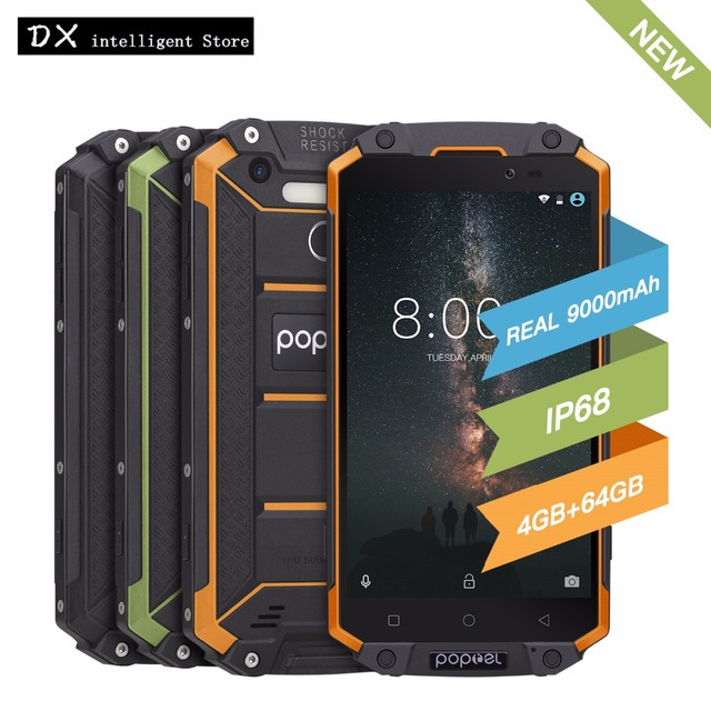"POPTEL P9000 Max 4GB 64GB IP68 Waterproof shockproof 4G LTE FDD SmartPhone 5.5"" FHD MT6750V Octa Core 13MP NFC OTG Fingerprint"