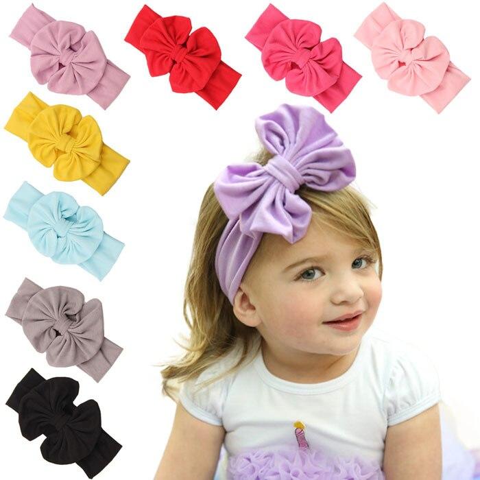 """5 """"bavlna velká bowkont holčičky čelenky vintage sektor velké luky pro děti zábal hlavy bebes krásné Cinta de cabeza 1ks"""