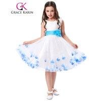 Grace karin vestidos pageant para meninas 2017 mangas vestido de baile crianças adolescentes crianças desgaste formal da festa de aniversário vestido da menina flor
