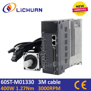 Image 1 - Lichuan 400w servo motor with driver kit 60st 01330 ac servo motor AC220V 3000rpm AC motor servo cnc for cnc servo kit